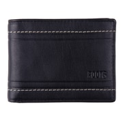 Roots 73 Men's RFID Leather Removable Passcase Wallet, Black