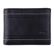 Roots 73 – Portefeuille RFID en cuir avec porte-cartes amovible, pour hommes, noir