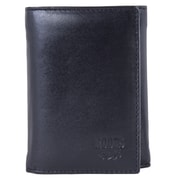 Roots 73 - Portefeuille compact en cuir, pour hommes, noir