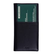 Roots 73 Leather Ticket and Passport Wallet, Black