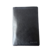 Roots 73 Leather Passport and Document Holder, Black