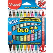 Maped Duo-Tip Washable Felt Tip Markers 10/Pack