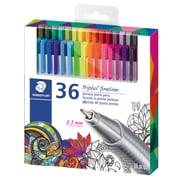 Staedtler® Adult Colouring Themed Triplus Fineliner Pens, 0.3mm, Assorted, 36/Pack