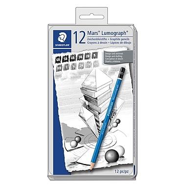 Staedtler-Mars Lumograph Drawing Pencils, 12/Pack