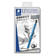 Staedtler-Mars Lumograph Drawing Pencils, 12/Pack