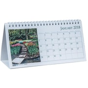 2018 House of Doolittle 8.5 x 4 Desk Top Tent Calendar Earthscapes Gardens (309)