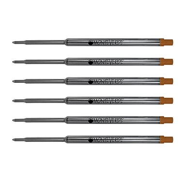 Monteverde Soft Roll Ballpoint Refill To Fit Waterman Ballpoint Pens Refill, 6/Pack