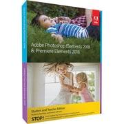 Adobe® Photoshop Elements & Premiere Elements 2018 Software, Windows, DVD (65281559)