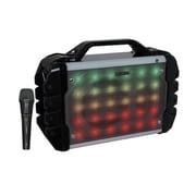 Boytone® 52 Series BT-52M Portable Audio Karaoke Bluetooth Speaker System W/Microphone, 300 W, Wireless, Black