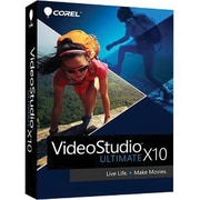 Corel™ Videostudio Ultimate v.X10 Video Editing Software, 1 User, Windows, Disk (VSPRX10ULMLMBAM)