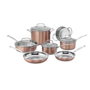 Cuisinart® Stainless Steel 11 Piece Chefs Cookware Set, Classic Copper (CSS-11BU)