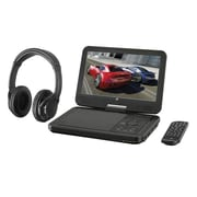 "GPX® PDB1077B 10.1"" Bluetooth DVD Player W/Wireless Headphones, Black"