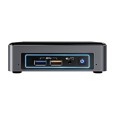 Intel® NUC7i5BNKP Desktop Computer Kit, Intel Core i5-7260U, 256GB SSD, 8GB, Windows 10 Home, Intel Graphics 640
