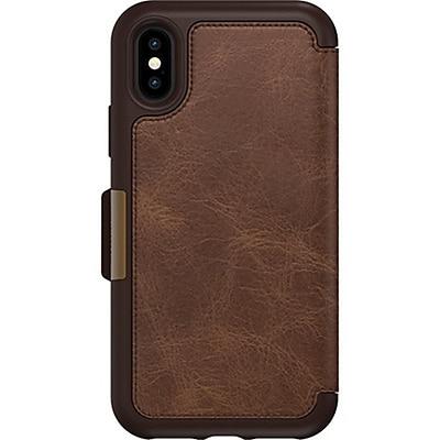 Otter Box® Strada Folio Case for Apple iPhone X, Espresso (77-57235)