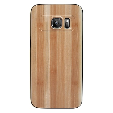 Exian Samsung Galaxy S7 Wood Pattern Metallic Bumper