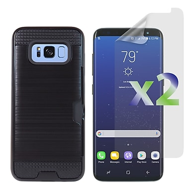 Exian Samsung Galaxy S8 Armored Case with Card Slot