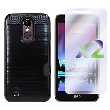 Exian LG K4 2017 Armored Case with Card Slot