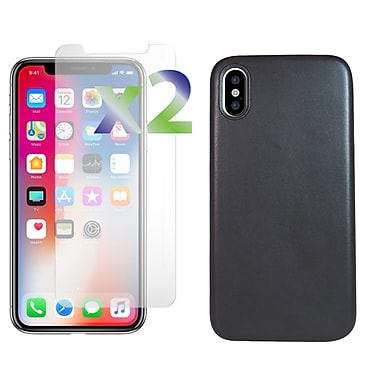 Exian iPhone X TPU Case Matte Leather Touch