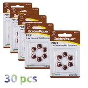 Exian Lithium Hearing Aid Battery PR41/312/P312, 30/Pack (IB036-PK30)