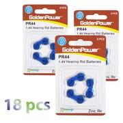 Exian Lithium Hearing Aid Battery PR44/675/P675, 18/Pack (IB037-PK18)