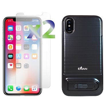 Exian iPhone X Armored Case with Stand/Card Slot