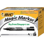 BIC - Marqueurs Magic Marker à effacement à sec, paq./ 24