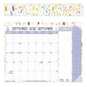 "Blueline® 2018/2019 16-Month Academic Monthly Desk Pad Calendar, 22"" x 17"", Bilingual, Spring Design (CA1716BBD)"
