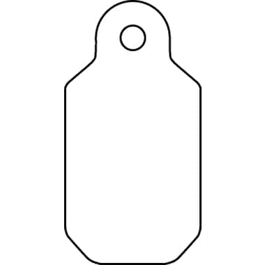 "Jewellery Tag, 5/16"" x 1"", 1000/Pack"