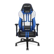 Andaseat Viper Series Ergonomic High-Back Recliner Office Chair Gaming E-sports Chair, White/Black/Blue (AD7-05-BWS-PV)