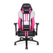 Andaseat Viper Series Ergonomic High-Back Recliner Office Chair Gaming E-sports Chair, White/Black/Pink (AD7-05-BWP-PV)