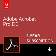 Adobe Acrobat Professional DC, 3 Year (Windows/Mac) [Download]