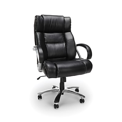OFM Avenger Big and Tall High-Back Leather Office Chair, Black (810-LX)