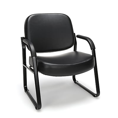 OFM Steel Guest/Reception Chair with Arms, Black (407-VAM-606)