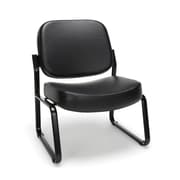 OFM Big and Tall Vinyl Guest/Reception Chair, Black (409-VAM-606)
