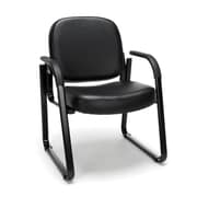 OFM Model 403-VAM Guest and Reception Chair with Arms, Anti-Microbial/Anti-Bacterial Vinyl, Black, (403-VAM-606)