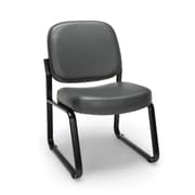 OFM Armless Guest and Reception Chair, Anti-Microbial/Anti-Bacterial Vinyl, Charcoal (405-VAM-604)