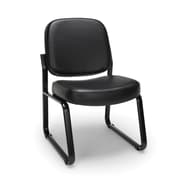 OFM Armless Guest and Reception Chair, Anti-Microbial/Anti-Bacterial Vinyl, Black (405-VAM-606)
