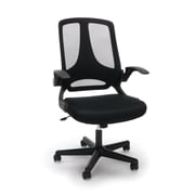 Essentials by OFM Mesh Upholsterd Flip-Arm Task Chair, Black, (ESS-3045)