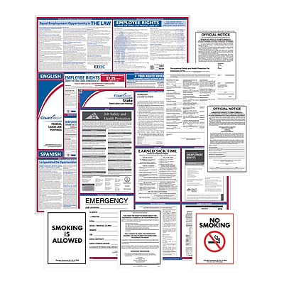 ComplyRight Federal (Bilingual), State & Public Sector (English) Poster Set - Pennsylvania (EFEDSTCRPSECBPA)