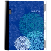 "Staples® 2018/2019 Weekly/Monthly Academic Planner, 6-7/8"" x 8-5/8"", Medallions, Bilingual (14255-19-CA)"