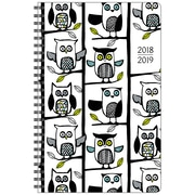 "Staples® 2018/2019 Owls Weekly/Monthly Poly Fashion Planner, 5-1/2"" x 8-1/2"", Bilingual (14379-19-CA)"