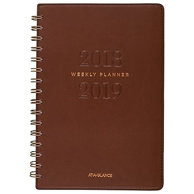 At-A-Glance® 2018/2019 Signature Wirebound Weekly/Monthly Academic Planner, 5-3/8