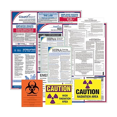 ComplyRight Federal & State Healthcare Poster Kit, AK - Alaska (E50AKHLTH)