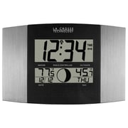 La Crosse Technology WS-8117U-IT-AL Atomic Digital Clock with Temperature & Moon phase