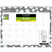 At-A-Glance® – Calendrier mural 2018/2019 Mint Flora, 11 7/8 x 14 7/8 po (W1103-707A-19)