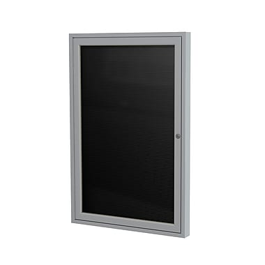 Ghent 1 Door Enclosed Letter Board with Satin Aluminum Frame