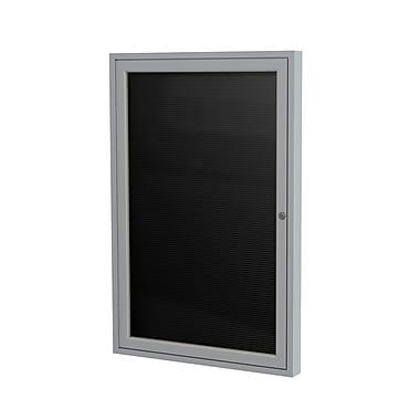 Ghent 1 Door Enclosed Vinyl Letter Board with Satin Aluminum Frame