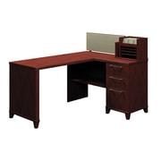 Bush Enterprise Fully Assembed Corner Desk, Harvest Cherry, Inside Delivery (2999CS-03KFA)