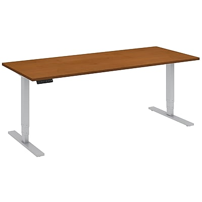 Move 80 Series by Bush Business Furniture 72W x 30D Height Adjustable Standing Desk, Natural Cherry, Installed (HAT7230NCKFA)