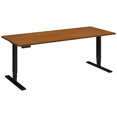 Move 80 Series by Bush Business Furniture 72W x 30D Height Adjustable Standing Desk, Natural Cherry, Installed (HAT7230NCBKFA)
